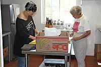 Martha and Patty preparing Friday dinner.0685