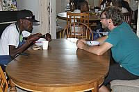 Will and Matt in discussion over breakfast.4224.jpg