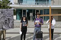 In Front of LAPD Metropolitan Detention Center.5562