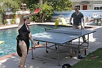 Susan and Benny Playing Ping Pong6337