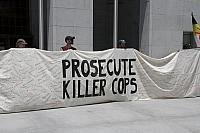 Killer Cops Banner at Jackie Lacey Protest.6263