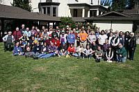 Group photo of all in attendance at retreat center.