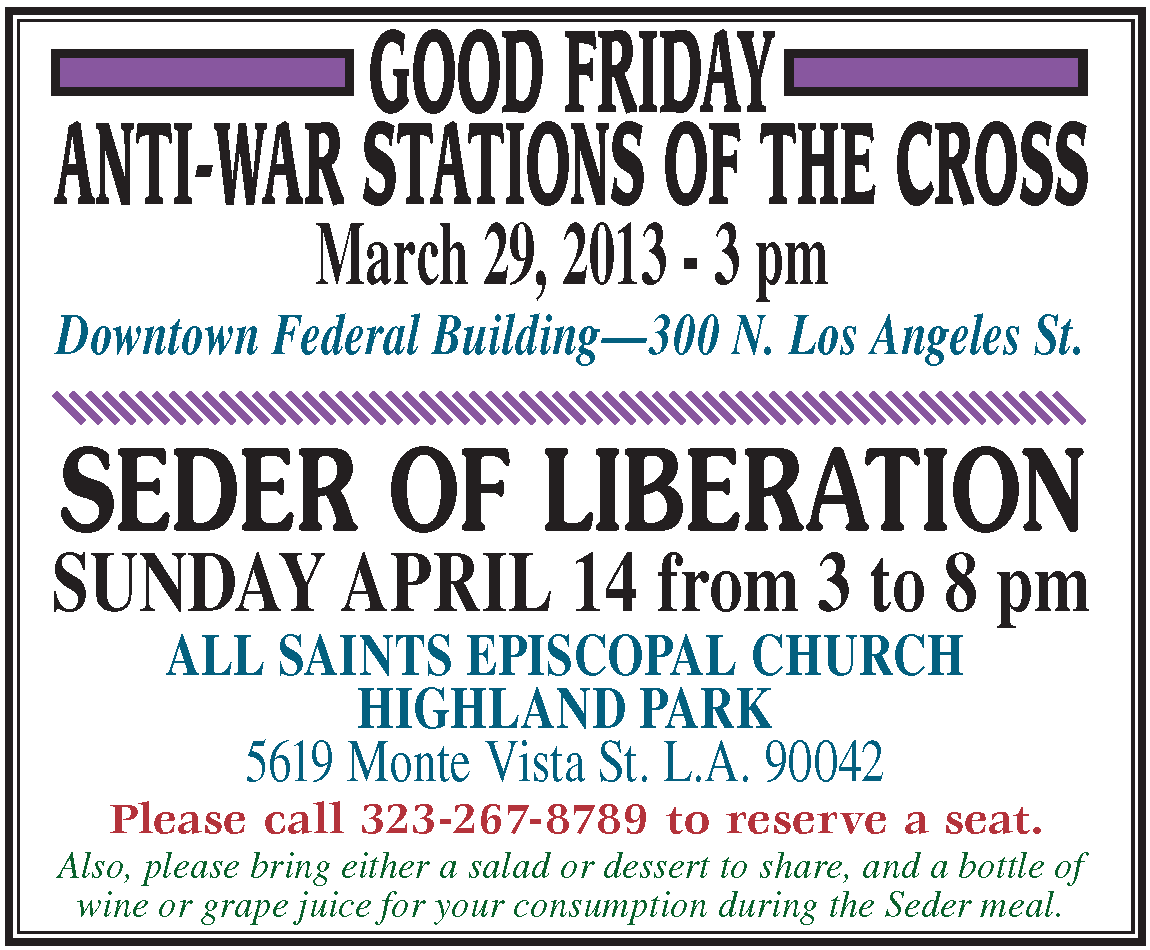 Good Friday-Seder 2013 Web