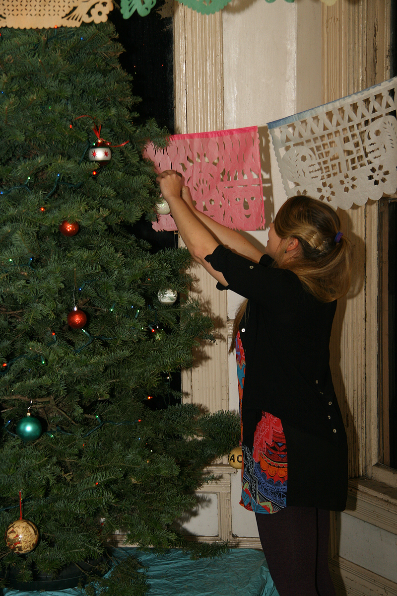 ... over to help decorate our christmas tree and sing christmas carols